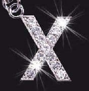 Swarovski Crystal Mobile Phone Charm - Letter X - KISS
