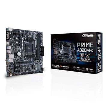 Asus PRIME A320M-K, AMD A320, AM4, Micro ATX, 2 DDR4