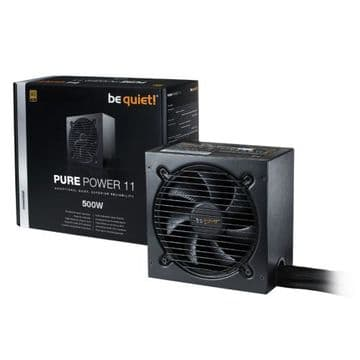 Be Quiet! 500W Pure Power 11 PSU, Fully Wired, Rifle Bearing Fan