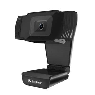 Sandberg USB Webcam Saver, HD 480P, Mic, Auto Light Correction