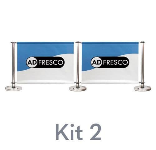 Cafe Barrier Kit 2 - Double Span