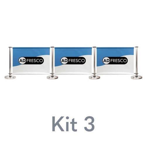 Cafe Barrier Kit 3 - Triple Span