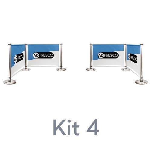 Cafe Barrier Kit 4 - 2 x 2 Corners