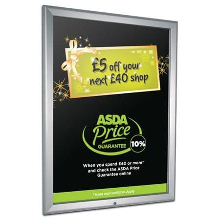 Lockable Poster Frames 32mm (Mitred corners)