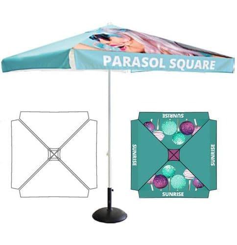 Square Cafe Parasol - Branded