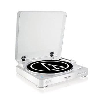 Audio-Technica AT-LP60BKBT Bluetooth Turntable - White