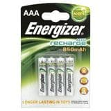 Energizer AAA 850 mAh Rechargeable Batteries NiMH HR03 1.2V (4 pack)