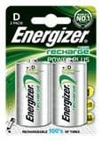 Energizer D Size Rechargeable Batteries 2500 mAH (2 pack)