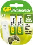 GP AA Rechargeable Batteries for Toys and Gaming - 2 Pack AA 2000mAh