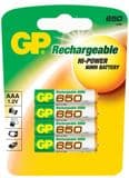 GP AAA 650 mAh NiMH 1.2V Rechargeable Batteries (4 pack)