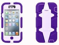 Griffin Survivor Military Duty Case for iPhone 5 Purple / Lavender GB35685
