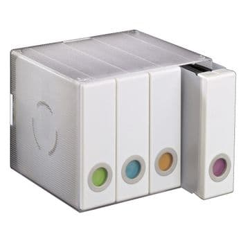 Hama CD/DVD/Blu-ray Album Box 96,  Transparent / White