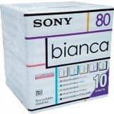 Sony 80 Minute Bianca Minidisc 10 disc pack MDW80