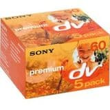 Sony MiniDV Premium Tape - 60 minute length 5 pack (mini dv)