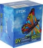 TDK Mini DV high quality 60 minute tape - 10 pack of tapes (minidv)