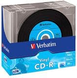 Verbatim 43426 52x Vinyl CD-R - Slim Case 10 Pack