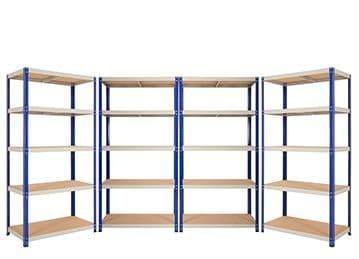 4 Bays of Shelving - 900mm Wide