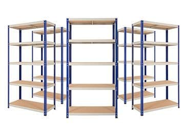5 Bays of Shelving - 900mm Wide