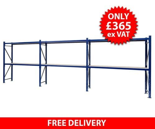 Blue Hand Loaded Racking - 4.8 Metres