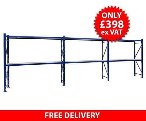 Blue Hand Loaded Racking - 6 Metres