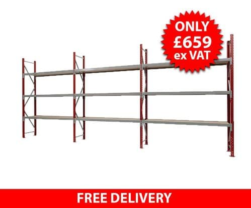 Hand Loaded Racking - 6 metres Wide