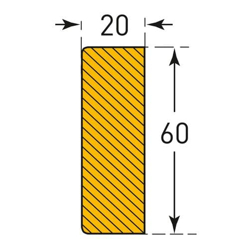 Rectangle 60/20 (Magnetic)
