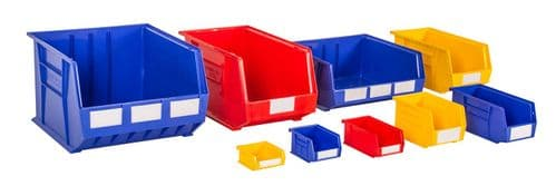 Rhino Tuff Plastic Bins Multi Coloured