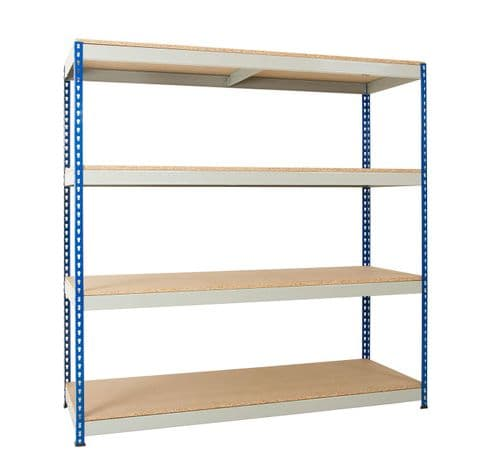 Wide Open Bays - 4 Shelves - 2440mm Wide