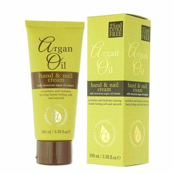 Argan Oil Hand & Nail Cream With Moroccan Oil Extract Hydrates Skin Soft 100ml