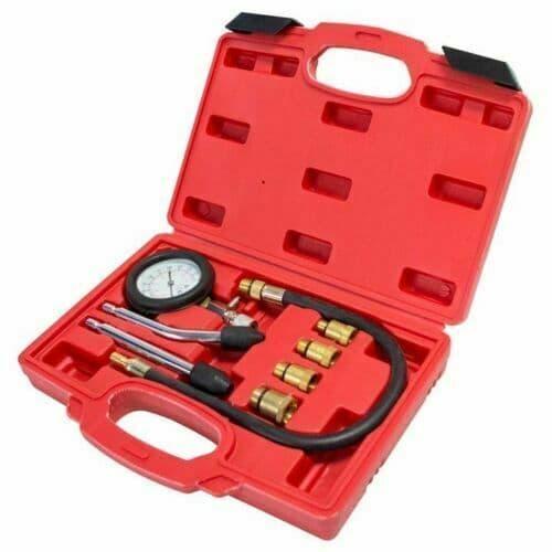 Automotive Tester Kit Gauge Pro Petrol Valve Engine Compression Timing Cylinder