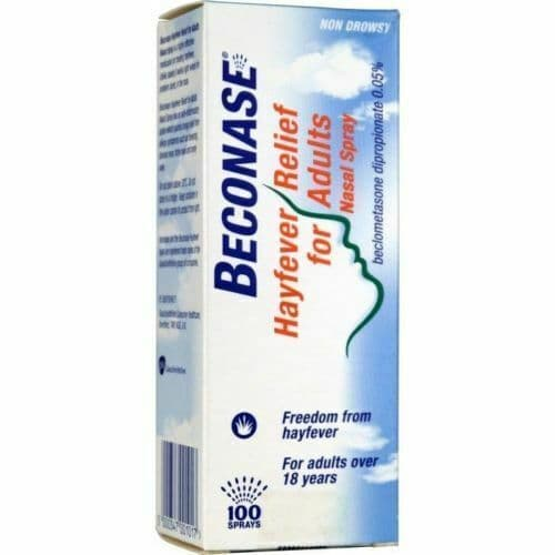 Beconase Hayfever Relief for Adults Nasal Spray   Non Drowsy   100 Sprays Bottle