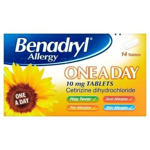 BENADRYL ALL 1DAY TABS 10MG 14