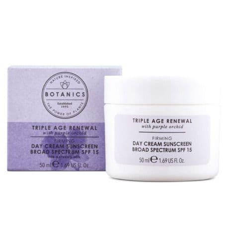 Botanics Triple Age Renewal Firming Day Cream SPF15 50ml