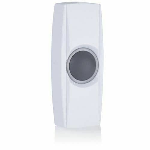 Byron BY34 Extra Wireless Door Bell Push Button with Battery - BY Series - White