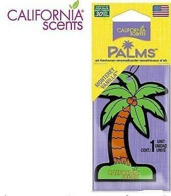 CALIFORNIA CAR SCENTS MONTEREY VANILLA HANGING PALM TREE AIR FRESHENERS