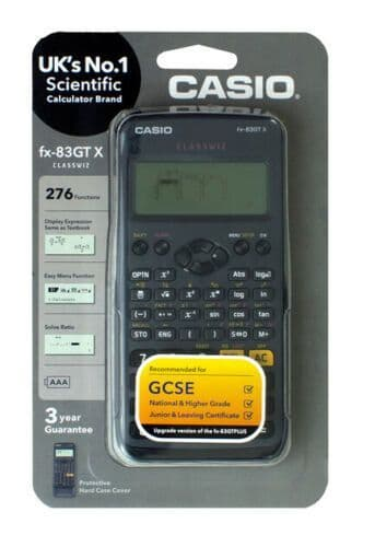 Casio fx-83GTX Black Scientific Calculator