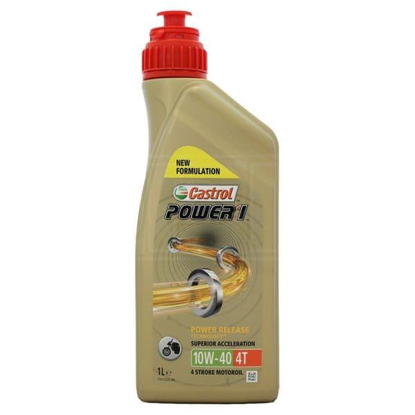 Castrol POWER1 4T 10W-40 10W40 4 Stroke Motorcycle Engine Oil 1 Litre 1L