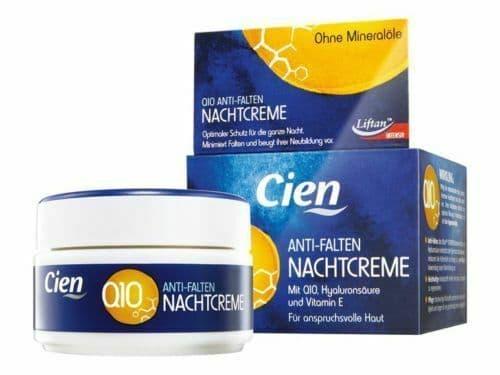 CIEN Face Cream Anti-Wrinkle Night Cream Q10,hyaluronic acid ,vitamin E 50ml NEW