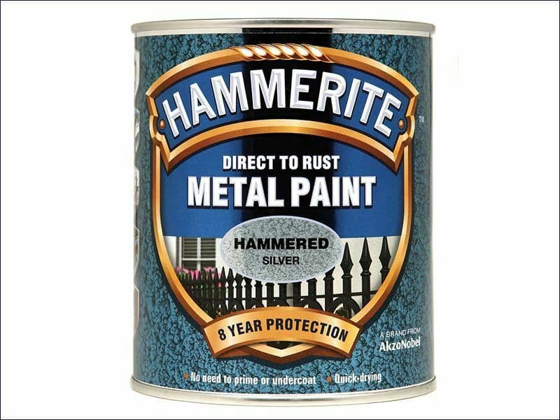 Direct to Rust Hammered Finish Metal Paint Silver 750ml HMMHFS750