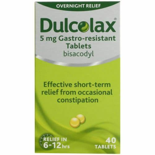 Dulcolax 5mg Gastro Resistant Tablets - 40 Tablets