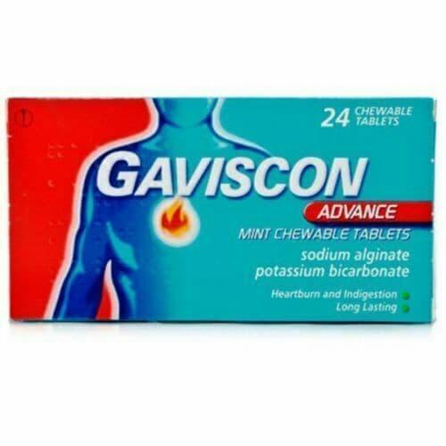 Gaviscon Advance Chewable Mint - 24 Tablets