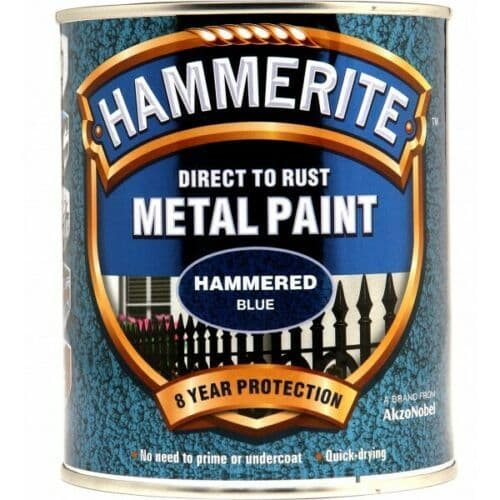 HAMMERITE Direct To Rust Metal Paint - Hammered Blue - 750ml [5092938]