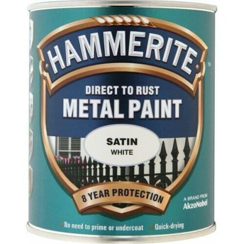 HAMMERITE Direct To Rust Metal Paint - Satin White - 750ml [5092886]