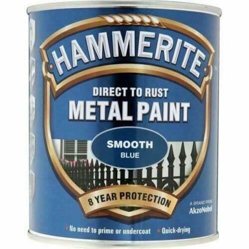 HAMMERITE Direct To Rust Metal Paint - Smooth Blue - 750ml