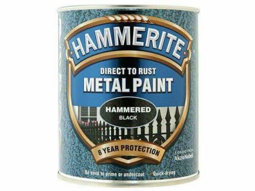 Hammerite Hammered Finish Metal Paint Black 750ml