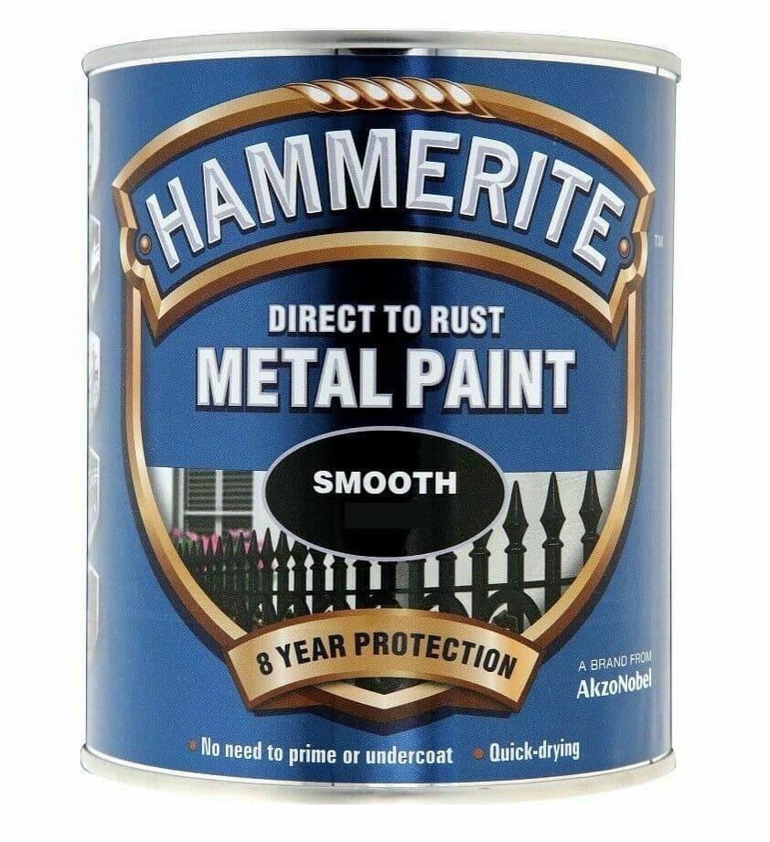 Hammerite Paint Smooth Dark Green Direct To Rust Metal Paint 750ml