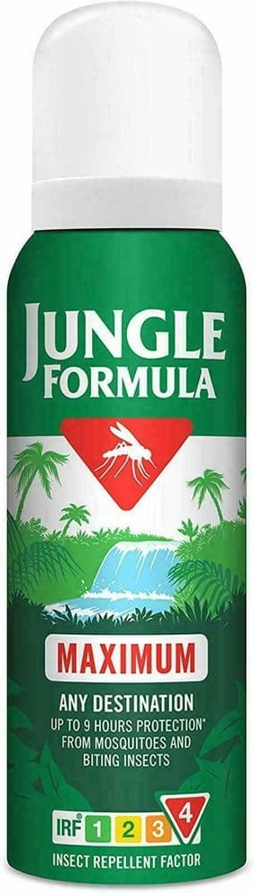 Jungle Formula Maximum Aerosol Insect Repellent 125 ML 1 Units Aerosol Spray Be