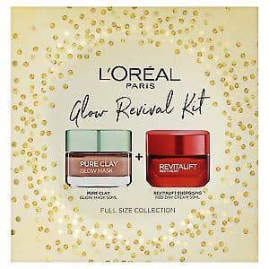L'Oreal Paris Glow Revival Kit Cleansing and Moisturising Gift Set for Her, 50