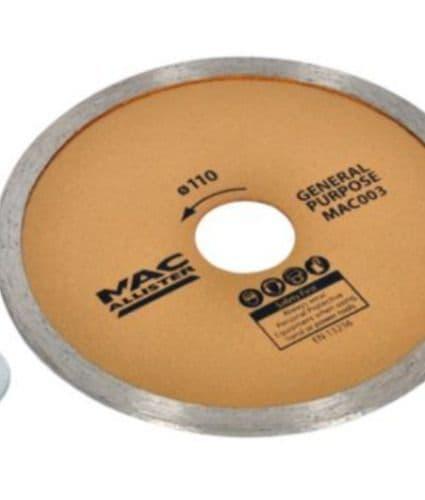Mac Allister 110mm Diamond Cutter Blade - General Purpose