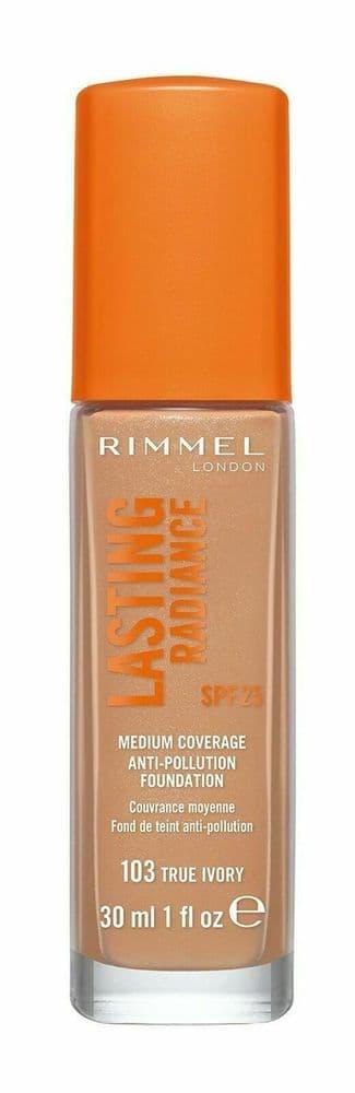Makeup Rimmel London women LASTING RADIANCE foundation SPF25 #103-true ivory 1 p